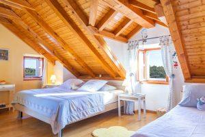 Triple bedroom at Villa Vicina