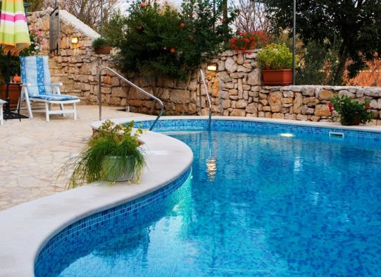 Private pool in Villa Vicina