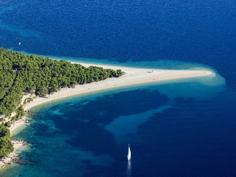 Zlatni rat - Beach on island of Brac
