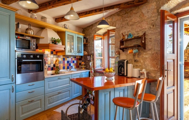 Kitchen on the ground floor in the Villa Vicina