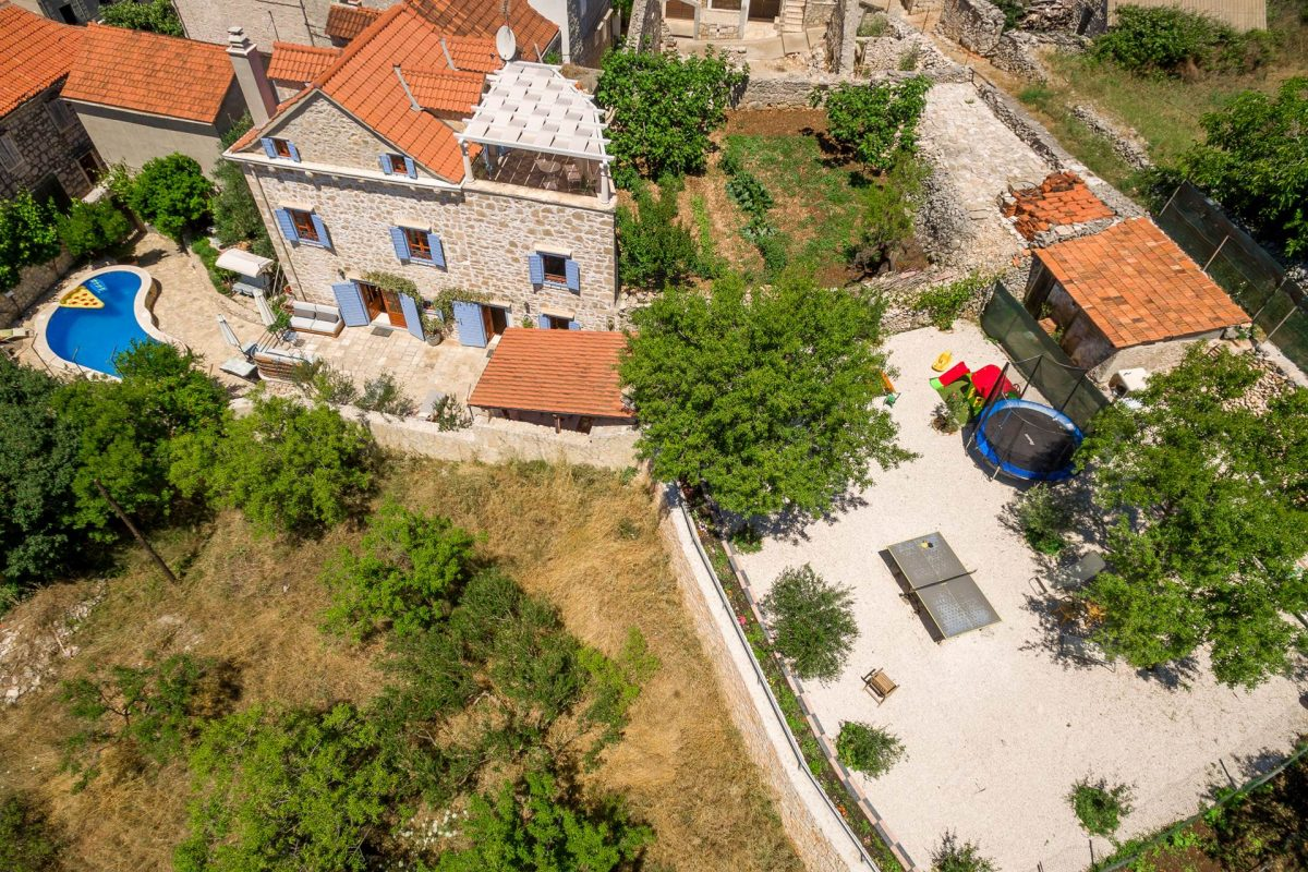 Drone view on Villa Vicina