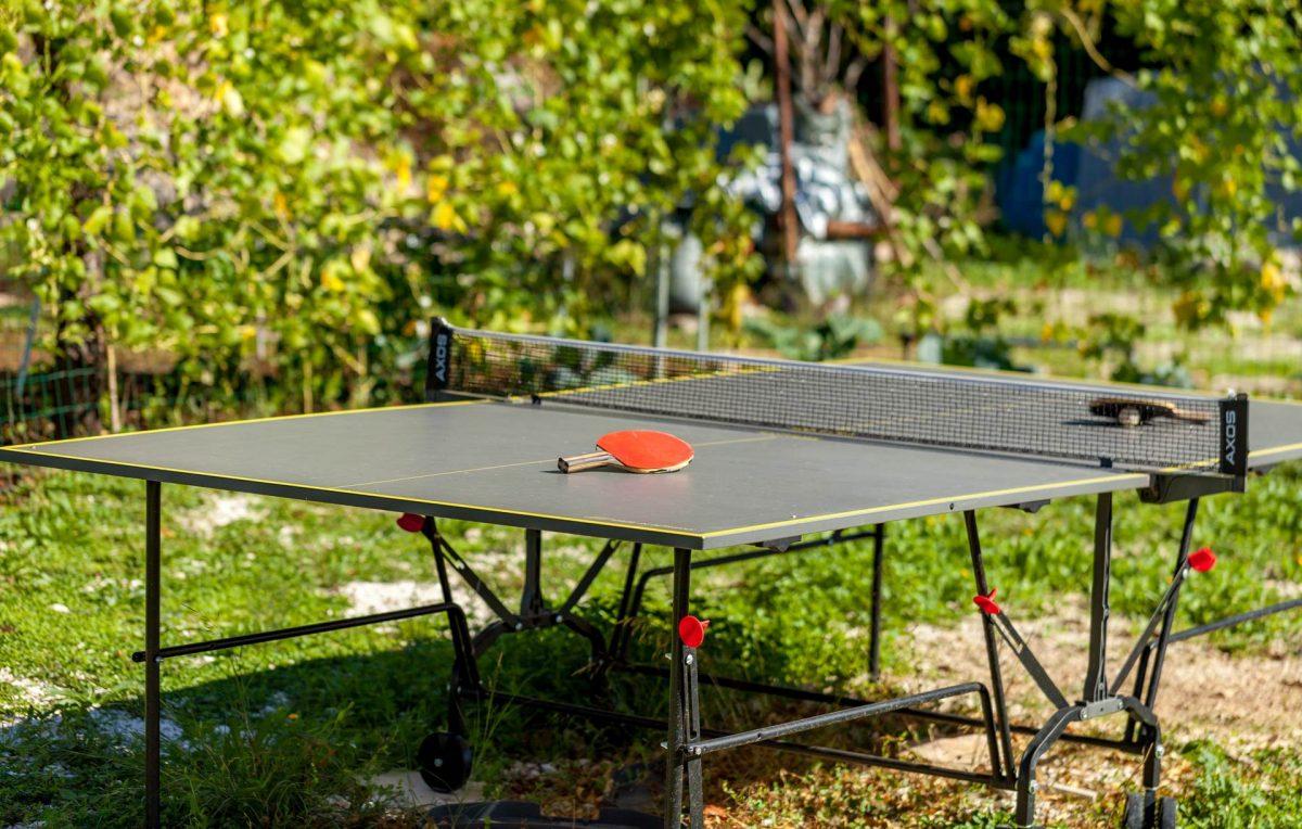 Garden table tennis