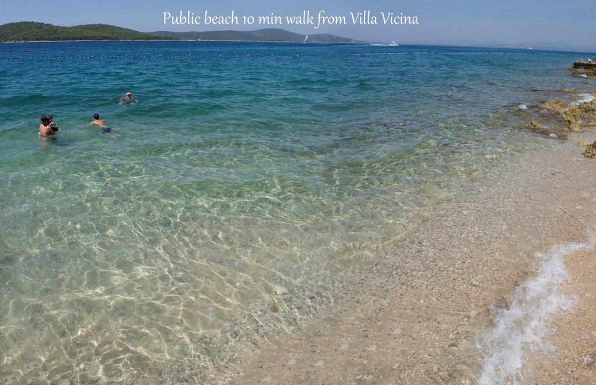 Stunning beauty of public beach just a few minutes away from Villa Vicina
