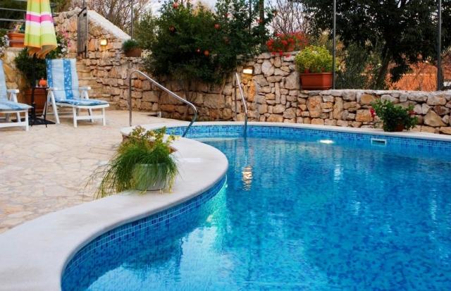 Private swimming pool at Villa Vicina